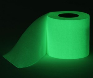 glow in the dark toilet paper roll