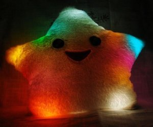 light glow star pillow