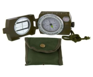 Military Prismatic Sighting Compass with Pouch