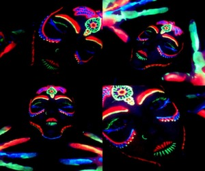 neon reactive blacklight makeup