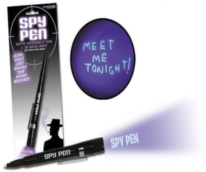 spy pen with uv ink blackligh
