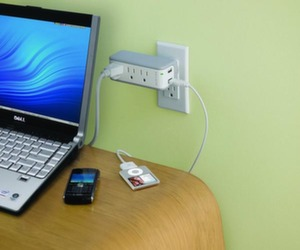 usb recharger and surge protector