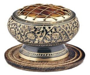 decorative brass incense burner