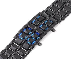 Faceless LED lava bracelet watch