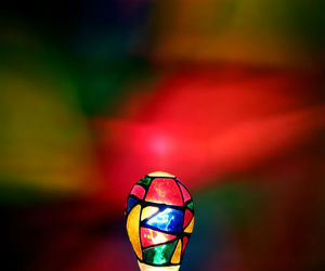 stained glass light bulb