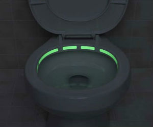 ohnny glow LED toilet sticker