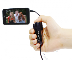 selfie remote in use