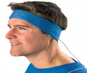 man wearing headphone headband