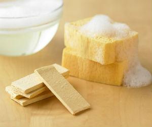 Popup soap sponge